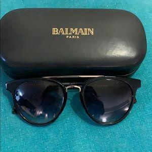Balmain Paris Black/Gold Sunglasses